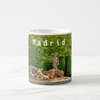 Neptune fountain in Madrid. Coffee Mug
