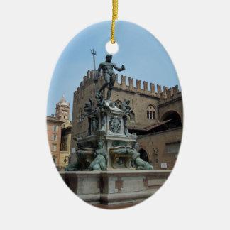 Neptune in Bologna Ceramic Ornament