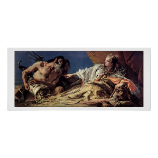 Neptune offering gifts to Venice (ceiling fresco) Poster
