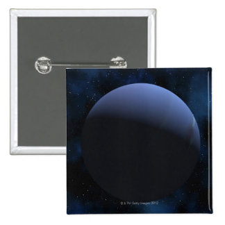 Neptune planet 2 inch square button
