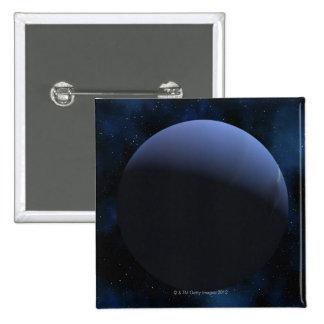 Neptune planet 2 inch square button