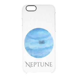 Neptune Planet Watercolor Clear Case
