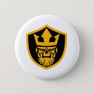 Neptune Skull Front Shield 2 Inch Round Button