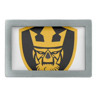 Neptune Skull Front Shield Belt Buckle