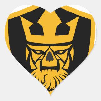 Neptune Skull Front Shield Heart Sticker