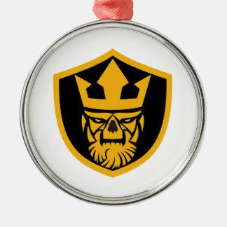 Neptune Skull Front Shield Metal Ornament