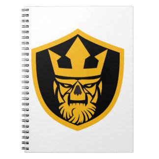 Neptune Skull Front Shield Spiral Notebook