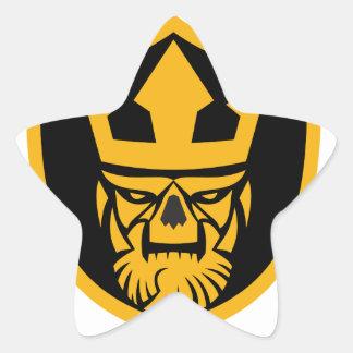 Neptune Skull Front Shield Star Sticker