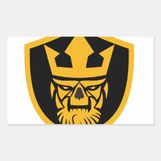 Neptune Skull Front Shield Sticker