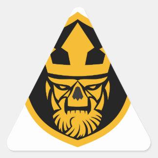 Neptune Skull Front Shield Triangle Sticker