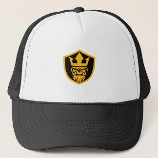Neptune Skull Front Shield Trucker Hat