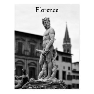 Neptune Statue, Florence, Italy, Postcard