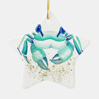 Neptune's Crab Ceramic Ornament