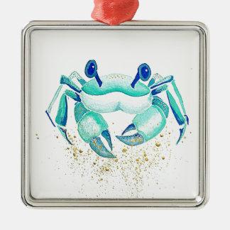 Neptune's Crab Metal Ornament