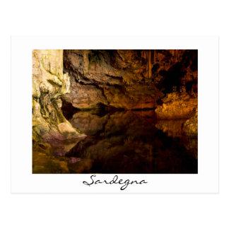 Neptune's Grotto, Sardinia white postcard