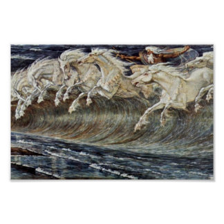 Neptune'S Horses By Crane Walter Poster