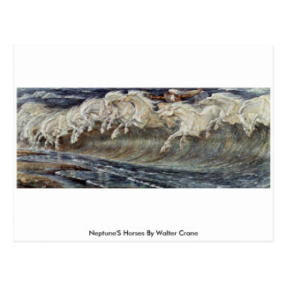 Neptune'S Horses By Walter Crane Postcard