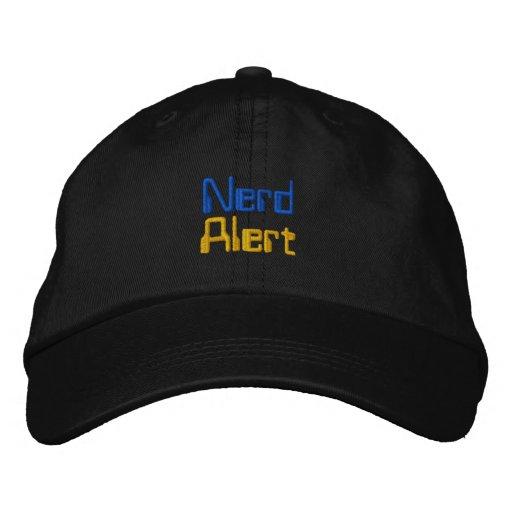 Nerd Alert Embroidered Hats