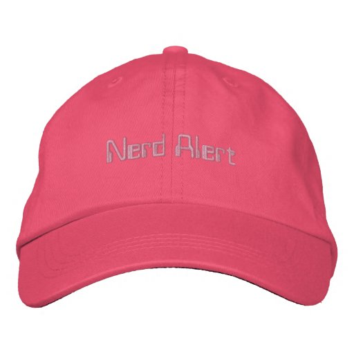Nerd Alert Hat Embroidered Baseball Cap
