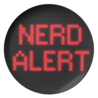 Nerd Alert Plate