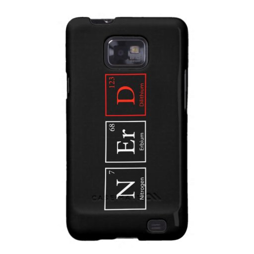 NErD and proud (Dark) Galaxy S2 Case
