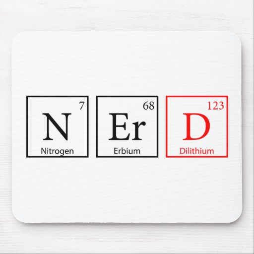 Nerd and proud (light) mouse pad