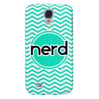 Nerd Aqua Green Chevron Galaxy S4 Case