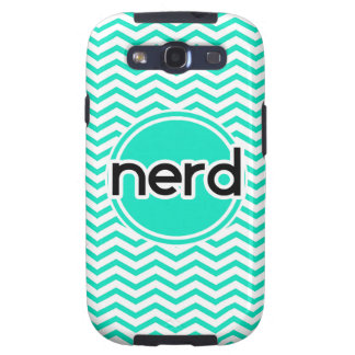 Nerd Aqua Green Chevron Galaxy S3 Cases