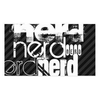 Nerd; Black & Dark Gray Stripes Pack Of Standard Business Cards