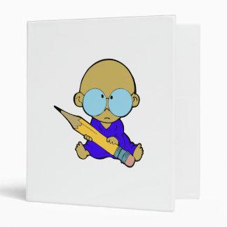 Nerd boy big pencil 3 ring binder