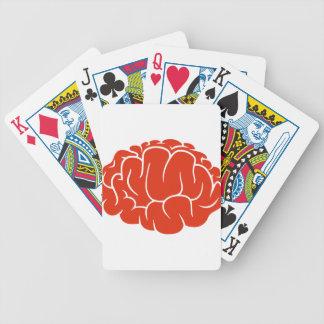 Nerd brain bicycle playing cards