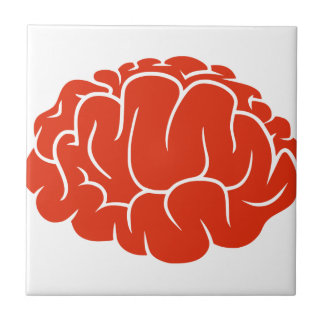 Nerd brain ceramic tile