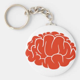 Nerd brain keychain