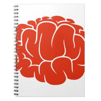 Nerd brain spiral note book