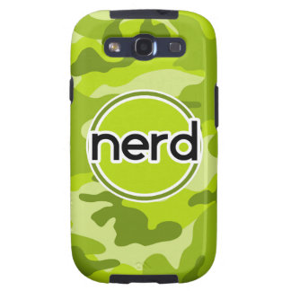 Nerd; bright green camo, camouflage galaxy SIII covers