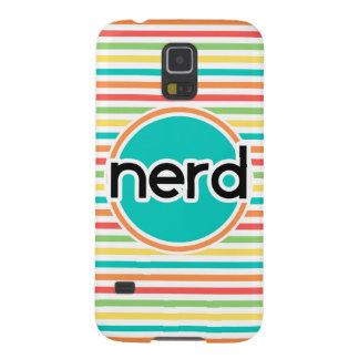 Nerd, Bright Rainbow Stripes Case For Galaxy S5