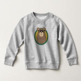 Nerd Brown Bear with cirlce Sweatshirt