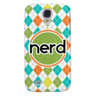 Nerd; Colorful Argyle Pattern Galaxy S4 Case