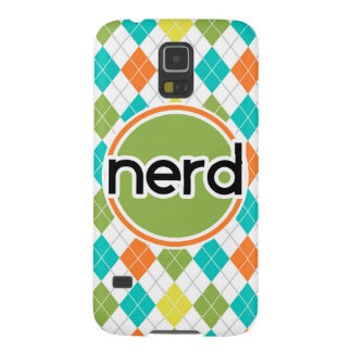 Nerd; Colorful Argyle Pattern Galaxy S5 Cases