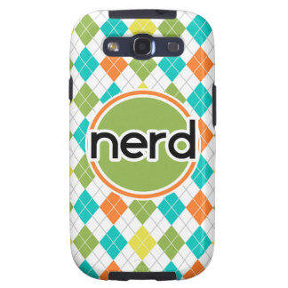 Nerd; Colorful Argyle Pattern Galaxy S3 Case