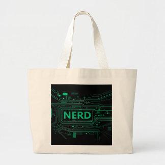 Nerd concept. large tote bag