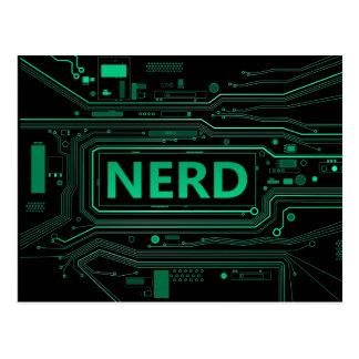 Nerd concept. postcard