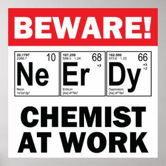 nerd elements-chemist at work print