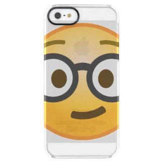 Nerd Emoji Clear iPhone SE/5/5s Case