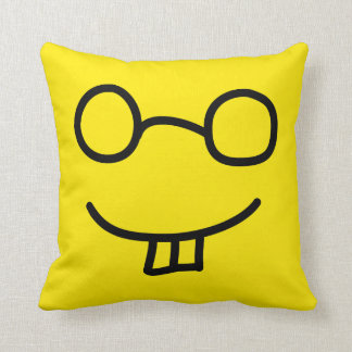 Nerd Emoticon Throw Pillow