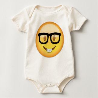 Nerd Face Emoji Baby Bodysuit