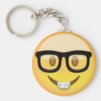 Nerd Face Emoji Keychain