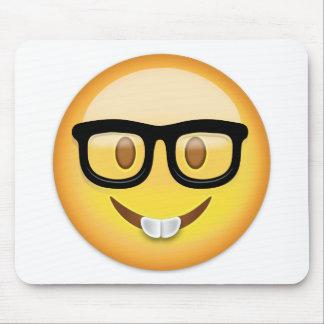 Nerd Face Emoji Mouse Pad