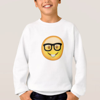 Nerd Face Emoji Sweatshirt