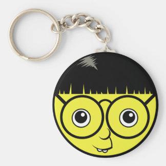 Nerd Face Keychain